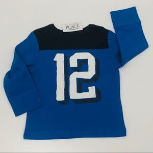 NWT Children's Place Long Sleeve Tee Blue 12-18m